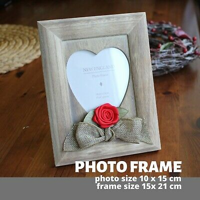Wooden Heart Photo Frame Handmade Christmas I Love You Gift For Him Boyfriend  • 8.99£