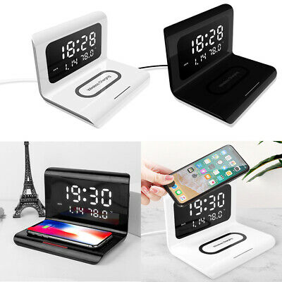 AU38.99 • Buy New  LED Digital Alarm Clock Wireless Charger Charging Pad Station For 10W Qi