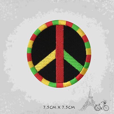 Rasta Peace Patch Iron On Patch Sew On Embroidered Patch • 2.09£