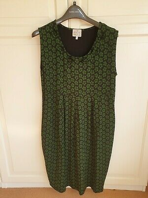 MASAI Green And Black Stretch Jersey Dress Size XL (16) • 9.99£
