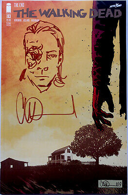 THE WALKING DEAD #193 W/ADULT CARL REMARQUE & SIGNED BY CHARLIE ADLARD 2ND PRINT • 21.99£