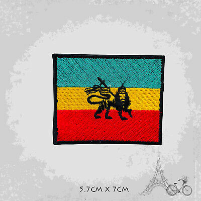 Rasta Flag With Lion Patch Iron On Patch Sew On Embroidered Patch • 2.09£