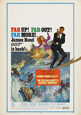 ON HER MAJESTY'S SECRET SERVICE 1969 George Lazenby – Movie Cinema Poster Art • 9.40£