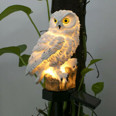 UK LED Garden Owl Solar Lights Patio Yard Lawn Waterproof Stake Lamps Party • 4.20£