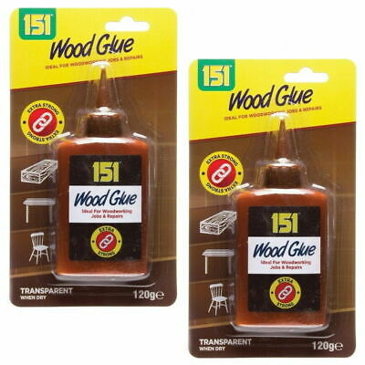 WOOD GLUE PVA FAST WORKING EXTRA STRONG FORMULA NON TOXIC ADHESIVE 120g • 3.10£