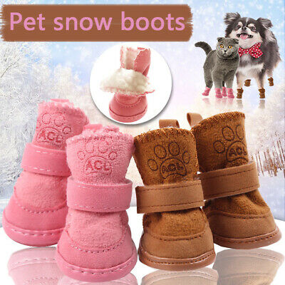 4pcs Winter Pet Dog Shoes Anti-slip Boots Puppy Dog Sock Protective Snow Booties • 5.99£