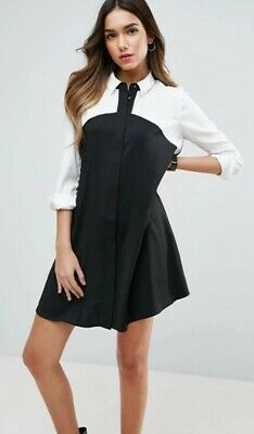 AU10 • Buy ASOS Monochrome Shift Dress Sz 10