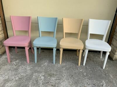 £70 • Buy HAND PAINTED CHAIRS Fully Refurbished Set Of 4