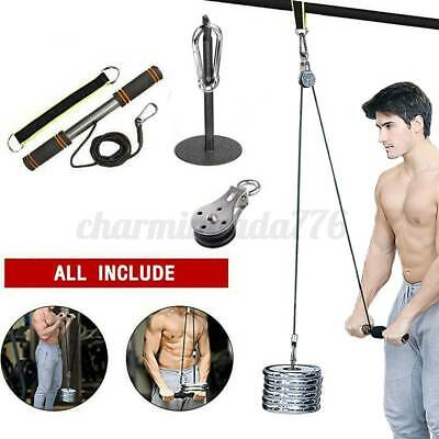 DIY Fitness Tricep Multi Gym Equipment Pulley Cable Machine Biceps Lifting Rope • 25.99£