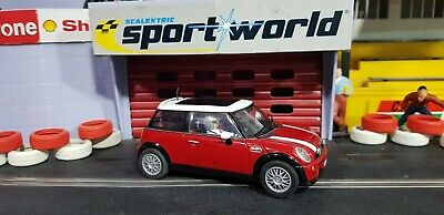 SCALEXTRIC HORNBY MINI COOPER RED  ITALIAN JOB Lights • 9.99£