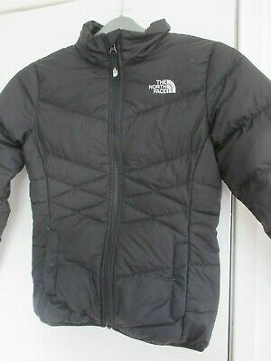 Quality Girls Black Northface 550 Down Coat Puffer Jacket (Medium Age 10 -12) • 10£