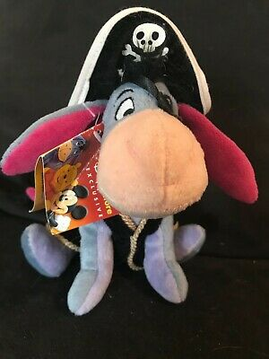 Disney Store Small Pirate Eeyore Soft Toy With Tags • 4£