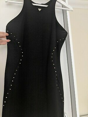 Guess Studded Bodycon Dress Black Size S • 15£