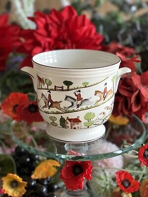 Crown Staffordshire Hunting Scene Cachepot Plant Pot Matches Wedgwood & Coalport • 48.99£