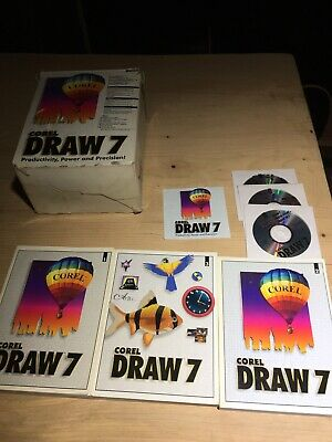 CorelDRAW 7 Boxed Full Version Software DVD-ROM, Photo Paint 7 ,Dream 3D 7 • 30£