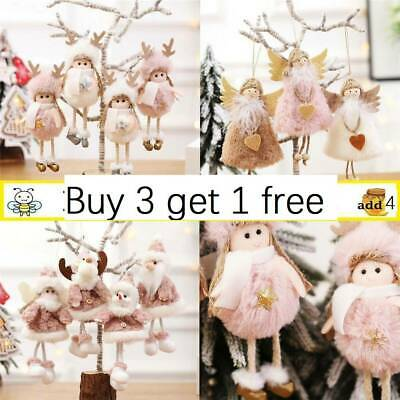 Christmas Angel Plush Doll Xmas Tree Hanging Decoration Pendant Ornaments CO • 2.89£