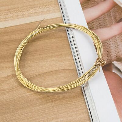 $ CDN7.12 • Buy 6pcs/1set 1st-6th String Steel Strings Acoustic Guitar Strings Set Gold