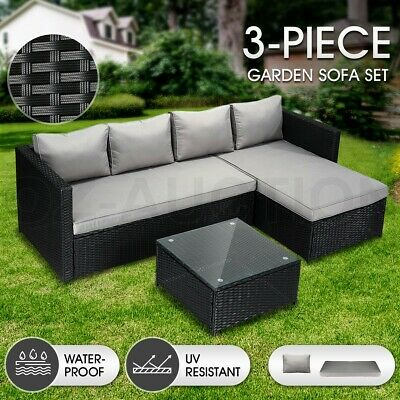 AU489.95 • Buy Outdoor Furniture Couch Lounge Sofa Table And Chairs Set Garden Patio Balcon