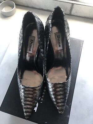 Dune Womens Pewter Pointed Court Shoe Size 5 (38) Very Good Condition • 14.99£