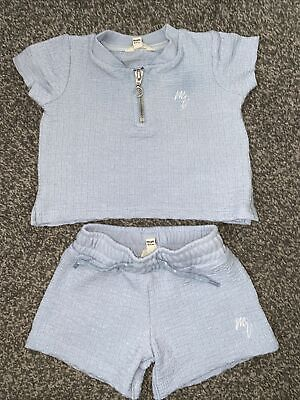River Island Boys 0-3 Months Shorts And Top Matching Set • 1.70£