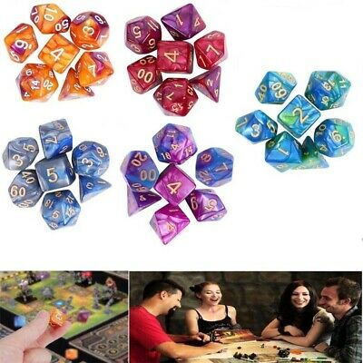 AU20.75 • Buy 35× Dice Polyhedral Set For Dungeons And Dragons - Dnd Rpg Games Role Playing Au