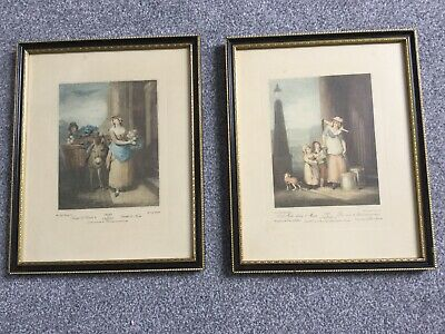 "Framed Vintage Cries Of London Print Pictures 11"" X 8.5"" (J18) • 18£"