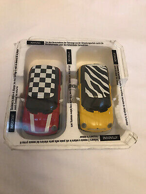 HORNBY SCALEXTRIC - RED And YELLOW  BMW MINI COOPER ROAD SLOT CAR C2881 • 0.99£