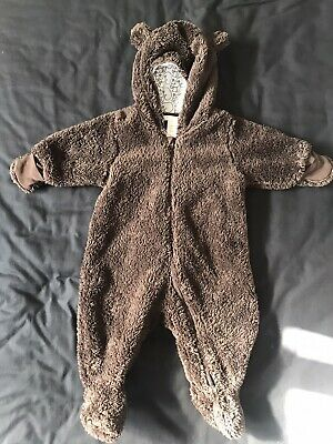 Baby Bear Suit Snuggly Autumn Winter 2-4 Months H&M Cute • 0.99£