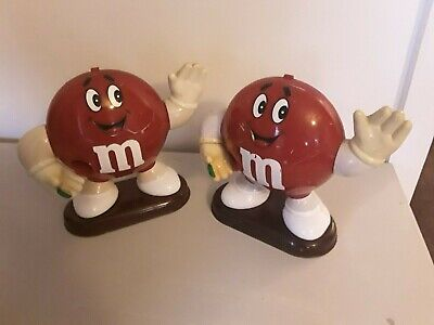 2 Large Red M&M Mars Confectionery Sweet Candy Dispensers • 5.49£