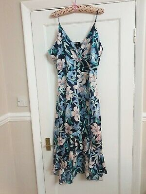 Ladies NEW Size 16 QED Floral Navy Floaty Dress High Low Party Wedding Christmas • 2.60£