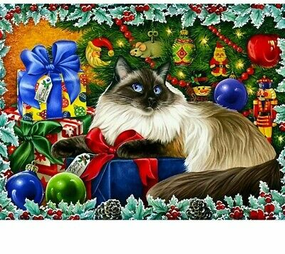 AU13.27 • Buy Diamond Painting Ragdoll Cat Christmas Gifts Design House Embroidery Wall Decors