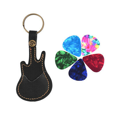 $ CDN9.71 • Buy Leather Keychain Guitar Pick Holder Plectrum Bag Case 5Pcs Triangle Case H8H8