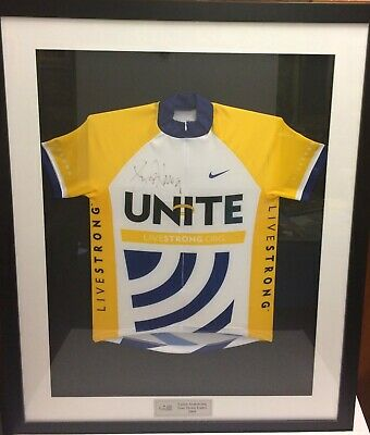 Lance Armstrong Tour De France Cycling Legend Livestrong Signed Framed Jersey Co • 665.43£