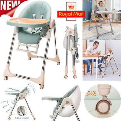 5 In 1 Adjustable Baby Highchair Foldable High Chair Recline Feeding Seat Table • 60.95£