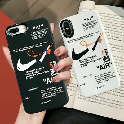 Off White X Nike Phone Silicone Case For IPhone 7 8 Plus XR XS MAX 11 12 Pro • 4.99£