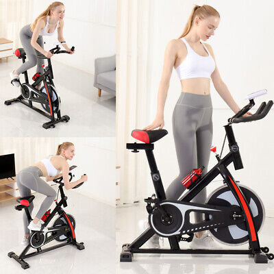 Heavy Duty Exercise Bike Studio Cycle Home Training W/Spinning Flywheel,Bottle- • 46£