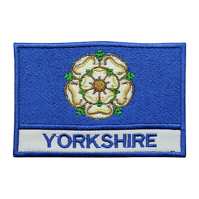 £1.99 • Buy Yorkshire County Flag Patch Iron On Patch Sew On Embroidered Patch