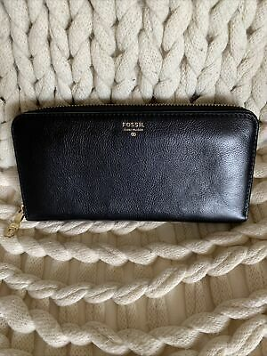 Fossil Black Leather Purse • 20£
