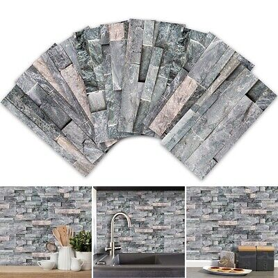 3D Mosaic Wall Tile Stickers Self-adhesive Removable Bedroom Kitchen Decoration • 8.49£