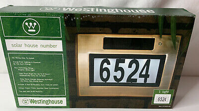 Solar Address Sign LED Plaque House Street Number Lighted Westinghouse New • 15.35£
