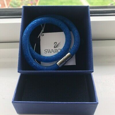 Real Royal Blue Swarvoski Two In One Jewellery. Comes With Box. Only Worn Twice • 45£