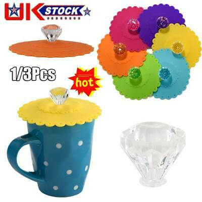 £5.32 • Buy Silicone Cup Lid Glass Drink Cover Anti Dust Coffee Mug Seal Lid Cap UK Stock