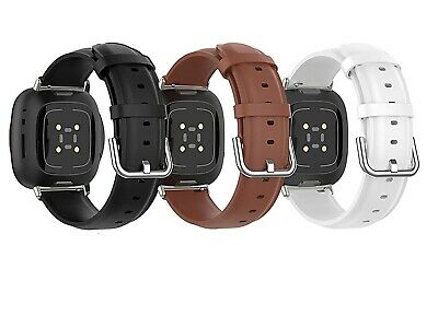 $ CDN15.86 • Buy For Fitbit Versa 2/Versa/Versa Lite Band Leather Replacement Wristband Strap