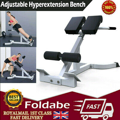 Adjustable Bench Roman Chair Back Bench Strength Train Fitness Exercise Machines • 69.88£
