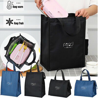 AU13.06 • Buy Portable Insulated Thermal Cooler Lunch Box  Tote Picnic Travel Bag Pouch Oxford