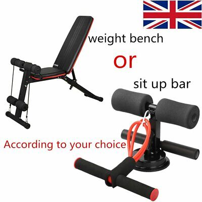Weight Bench Multi Adjustable Gym Workout Exercise Flat Incline Decline Sit Up • 50.99£