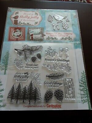 Have A Holly Jolly Christmas Stamp And Die Set • 1.60£