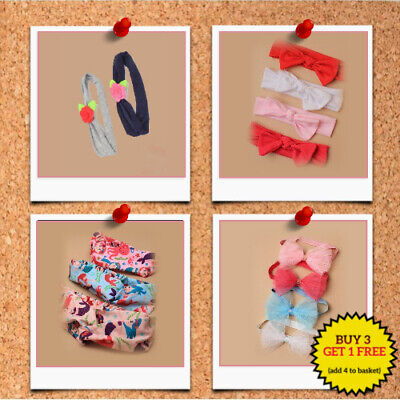 £2.50 • Buy Childrens Headbands Kids Girls Tied Bow Knot Hair Bands Bandeau Buy 3 Get 1 Free