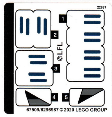 Lego Star Wars STICKER SHEET ONLY For Lego Set 75276 Stormtrooper Helmet - New • 6.49£