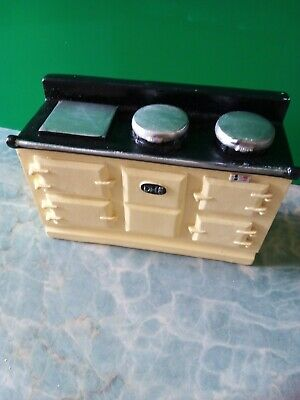 1/12 Dolls House Aga Stove Traditional Cream New/boxed - Resin • 4.20£